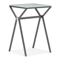 Zuo Modern - Zuo Modern Xert Modern Counter Table X-681106 - Relax and sip on a martini with our Xert bar series. Table has a painted glass top on a sturdy steel base. Perfect for entertaining in style.