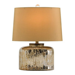 Arteriors Home - Arteriors Home Pelham Ribbed Glass Table Lamp - Arteriors Home 46049-771 - Arteriors Home 46049-771 - The Pelham Ribbed Glass Lamp by Arteriors will captivate you with its ribbed design and distressed metal finish. Its oval honey mustard sheer shade and matching lining offers warm ambiance and a feeling of relaxed comfort.