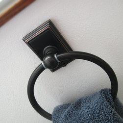 Westwood Towel Ring - Westwood towel ring in vintage bronze.