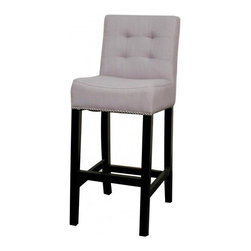 NPD (New Pacific Direct) Furniture - Scott Barstool by NPD Furniture, Steel Blue, Bar Height - This gracefully styled stool (Set of 2) will add an elegant finish to your kitchen, dining room or bar area.
