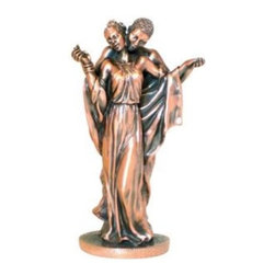 BA - 10 Inch Copper Color African Embracing Couple Figurine Statue - This gorgeous 10 Inch Copper Color African Embracing Couple Figurine Statue has the finest details and highest quality you will find anywhere! 10 Inch Copper Color African Embracing Couple Figurine Statue is truly remarkable.