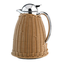 Alfi - Alfi Achat Albergo Carafe With Integrated Tea Filter, Wicker - You already make entertaining look easy, but this carafe's one-hand operation will actually simplify your serving. Other helpful features include an integrated tea filter and a double-walled vacuum glass liner to maintain beverage temperature for up to 12 hours. Plus, its woven wicker covering is a charming country touch.
