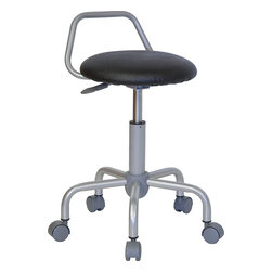 Flash Furniture - Flash Furniture Ergonomic Stool - WL-ST-08-GG - This Backless stool is practical for any fast-paced environment. The sleek, modern design allows the stool to conform in several environments with its silver metal frame and raised backrest. This stool can be used in a multitude of environments from the Classroom, Doctor's Offices, Hospitals, Garages and Workshops. [WL-ST-08-GG]