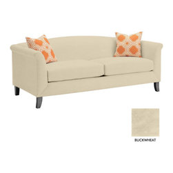 Apt2B - Albright Sofa, Buckwheat - The Albright Collection is super chic. With a smooth back and tapered wooden legs, this sofa is sure to class up your space.