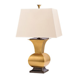 Hudson Valley Lighting L472-VB Water Mill Vintage Brass Table Lamp - Hudson Valley Lighting L472-VB Water Mill Vintage Brass Table Lamp - # of Bulbs: 1. - Installation Required: Yes.