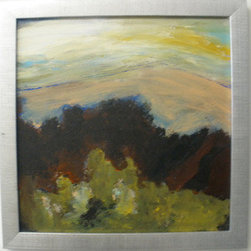 Cape Marsh (Original) By Don Wunderlee - an abstract hint at the terrain on Cape Cod Massahusetts