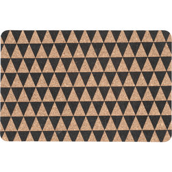 Ferm Living - Ferm Living Triangle DInner Mats, Set of 2 - Set the table in style with these contemporary dinner mats. Made from heat-resistant cork, each features rows of triangles for a graphic look that can hip up any meal.100% corkSet of two45cm W x 30cm H