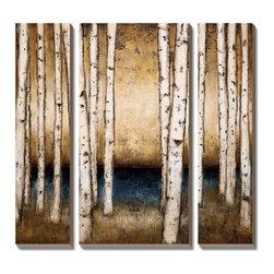 Artcom - Birch Landing by Patrick St. Germain - Birch Landing by Patrick St. Germain is a Canvas Art Set.