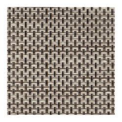 Chilewich Basket Weave Floor Mats, Oyster