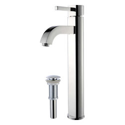 Kraus - Kraus FVS-1007-PU-10CH Ramus Single Lever Vessel Faucet - Add a touch of elegance to your bathroom with a vessel sink faucet from Kraus