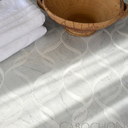Mosaic Product Offerings - Stone water jet shown in honed marble from New Ravenna.