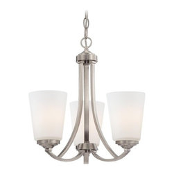 Minka Lavery - Minka Lavery 4963 3 Light 1 Tier Chandelier from the Overland Park Collection - Three Light Single Tier Chandelier from the Overland Park CollectionFeatures: