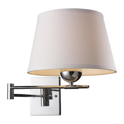Elk Lighting - Polished Chrome Single Light Swing Arm Wall Sconce from the Lanza Collection - Swingarm sconce