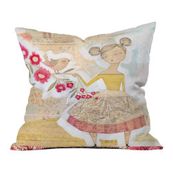 Cori Dantini The Secret To Happiness Outdoor Throw Pillow - Do you hear that noise? it's your outdoor area begging for a facelift and what better way to turn up the chic than with our outdoor throw pillow collection? Made from water and mildew proof woven polyester, our indoor/outdoor throw pillow is the perfect way to add some vibrance and character to your boring outdoor furniture while giving the rain a run for its money.