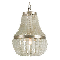 Frosted Glass Beads Embellished Chandelier -