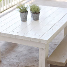 Contemporary Outdoor Dining Tables by Etsy