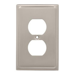 Liberty Hardware - Liberty Hardware 126362 Country Fair WP Collection 3.15 Inch Switch Plate - Sati - A simple change can make a huge impact on the look and feel of any room. Change out your old wall plates and give any room a brand new feel. Experience the look of a quality Liberty Hardware wall plate.. Width - 3.15 Inch,Height - 4.9 Inch,Projection - 0.2 Inch,Finish - Satin Nickel,Weight - 0.15 Lbs