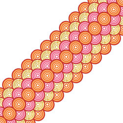 Brewster Home Fashions - Geo Circles Stripe Pink Orange Circle Self-Stick Wall Border - FEATURES:
