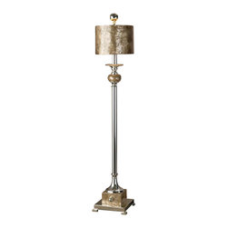 Uttermost Pearl Silver Buffet Lamp - Silver plated metal with real roasted, mother of pearl accents. This lamp is silver plated metal with roasted, mother of pearl accents and a matching round shade.