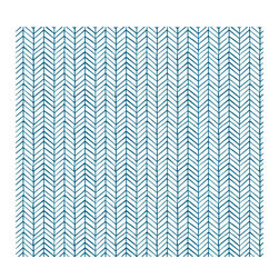 """Herringbone Peel and Stick Self Adhesive Removable Wallpaper, 24""""x120"""" - Couture WallSkins.  Your wall will love you for this."""