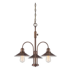 Designers Fountain - Designers Fountain Newbury Station Chandelier with Metal Shade, Old Satin Brass - Designers Fountain Newbury Station Chandelier with Metal Shade, Old Satin Brass X-BSO-38458