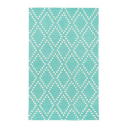 Trellis Rug, Pool - For those who love blue, this rug is perfect. I used a similar one in my son's room, and the color is awesome.