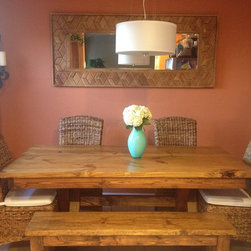 "6ft Trestle Dining Table - 6ft (72"") long by 37"" wide trestle table in Early American stain."