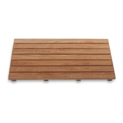Arb Systems Inc. - ARB Teak & Specialties Shower Mat - This Grade A teak wood bath mat by ARB Teak & Specialties is a versatile addition to your bathroom due to teak wood's water resistant resilience. Designed for use inside the shower, its smooth finish lets feet rest comfortably.