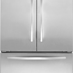 """KitchenAid Architect Series KBFS20EVMS 36"""" French Door Bottom-Mount Refrigerator - 36"""" Counter-Depth French Door 19.8 Cu. Ft. Bottom-Mount Refrigerator with Two Pull-Out Freezer Baskets, FreshSeal Humidity Controlled Crispers, FreshChill Temperature Management, Energy Star Qualified, and Designer Hinges"""