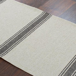 Home Decorators Collection - Custom Lined Table Runner - Our Custom Lined Table Runner will spruce up your dining table, buffet or console table. Choose from an array of stylish designs in linen and burlap fabrics, and coordinate with our other custom fabric items. This custom table runner features a solid-color reverse lining. Backed in a solid complementary color. Made in the USA. Hand or spot clean.