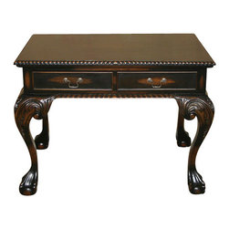 MBW Furniture - Consigned Briwax Liming Wax Can 3.5Ltr 1 Gallon - This beautiful solid mahogany Chippendale lowboy table features a rope carved edging around the surface, raised trim on the drawer facings and sides, a rope carved skirt, large cabriole legs and huge ball & claw feet. The drawers have a gorgeous interior finish, decorative antique brass bail pulls, and operate smoothly on runners. The antique black finish is distressed in areas to simulate age or use. This beautiful hall desk can be usefull in a variety areas of your home or office.