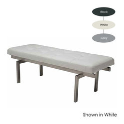 Louve Small Bench, White
