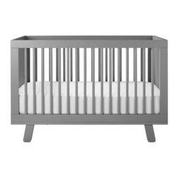 Serena & Lily - Hudson Crib Grey - Super simple and sophisticated, this is a nice alternative to traditional crib design. The subtle flair of splayed legs add a nice touch to the mid-century look. We love it with the palest of palettes or colors bold and bright.
