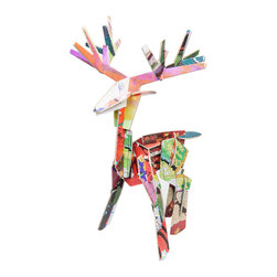 OOTS! - Totem: Deer Cardboard Toy - Technicolor dreams are made of this — recycled cardboard in the shape of a majestic deer. It not only teaches an appreciation of nature, but also an understanding that being different is a good thing.