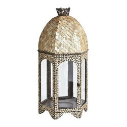 Capiz Lantern - This gorgeous gilded capiz shell lantern is absolutely stunning! It's a splurge, but it makes such a sophisticated and exotic statement.