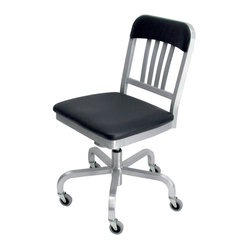 Emeco Navy Swivel Chair