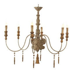 Aiden Gray Italian Chandelier - This beautiful fixture would work well with 8-foot ceilings.