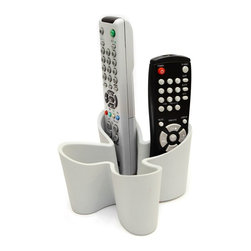 J-Me - Cozy Remote Control Tidy - ber remote tidy solves the problem of lost remotes. Available in black, red and cool grey. Remote controls not included.