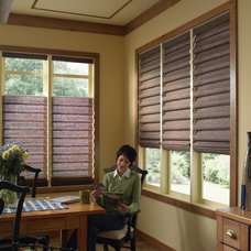 Traditional Roman Shades by Blinds Chalet