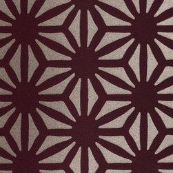Romo - Romo Estella Romo Elderberry Wallpaper (Sample) - Wallpaper CalculatorThe geometric design on this modern Romo wallpaper provides a bold look, accompanied by a shiny surface.