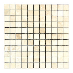 STONE TILE US - Stonetileus 30 pieces (30 Sq.ft) of Mosaic White 1x1 Honed Filled - STONE TILE US - Mosaic Tile - White 1x1 Honed - Filled Coverage: 1 Sq.ft size: 1x1 - 1 Sq.ft/Sheet Piece per Sheet : 121 pc(s) Tile size: 1x1 Sheet mount:Meshed back Stone tiles have natural variations therefore color may vary between tiles. This tile contains mixture of white - light brown - and color movement expectation of high variation, The beauty of this natural stone Mosaic comes with the convenience of high quality and easy installation advantage. This tile has Honed-Filled surface, and this makes them ideal for walls, kitchen, bathroom, outdoor, Sheets are curved on all four sides, allowing them to fit together to produce a seamless surface area. Recommended use: Indoor - Outdoor - High traffic - Low traffic - Recommended areas: White 1x1 Honed - Filled tile ideal for walls, kitchen, bathroom, Free shipping.. Set of 30 pieces, Covers 30 sq.ft.