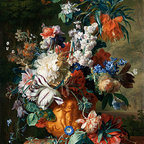 Bouquet of Flowers in an Urn, 1724 | Huysum | Canvas Print - Condition: Canvas Print - Unframed