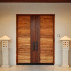 Modern Interior Doors by Pacific Coast Teak