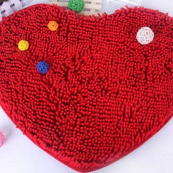 Lovely Heart Pattern Cool Floor Mats Red - Item #: RY13040805