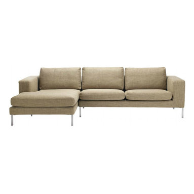 Neo Sectional Chaise Left - If you ask Niels Bendtsen why his Neo Collection is just as relevant today as when he first designed it, he'll point out its proportions, which are something he's developed and perfected over time. In the 1960s, Bendtsen was importing Scandinavian furniture, but began designing his own when he couldn't find the quality and aesthetics he wanted. Neo is a culmination of Bendtsen's experiences as an importer and designer. The frame is hand-built and draws on techniques Bendtsen learned from his father, who also designed furniture. The foam seat cushions are sourced from Italy because he hasn't found any others that offer his ideal mix of firm support and comfort. And the removable cushion covers make Neo an easy-to-live-with collection. Bendtsen's work is in the permanent collection of MoMA, and he was honored with the 2006 British Columbia Creative Achievement Award of Distinction. Made in Canada.