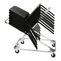 National Public Seating - National Public Seating Dolly for 8200 Chair Transport Storage Accessories - Store and transport your music chairs on the Dolly for 8200 Series Melody Music Chair. The steel frame supports up to 18 chairs, so you can clear your entire music room in minutes. Steel handles and four casters make it easy to move the dolly around your school.