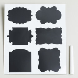 Chalkboard Label Set - These are so adorable for the kitchen or the bathroom. Chalkboard labels can be changed out on a whim.