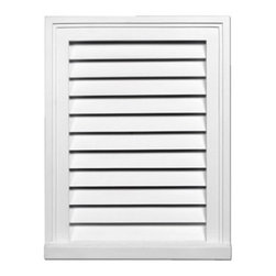 "Inviting Home - Rectangular Louvers - 32""H - rectangular decorative louvers 15-1/2""W x 32""H x 2-1/2""D Decorative louvers specifications: decorative louvers designed for exterior application. Outstanding durability decorative louvers are made of high density polyurethane. These decorative louvers are lightweight durable and easy to install using common woodworking tools and can be finished with any quality paints."