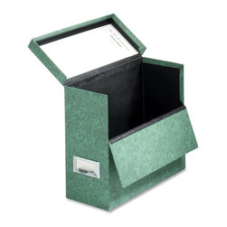 "Globe-Weis - Globe-Weis 591 Storage Case - External Dimensions: 12.1"" W x 4.8"" D x 10.1"" H - Fiberboard, transfer/storage case is ideal for letter-size vertical files, brochures, newspapers, and magazines. Design includes a hinged lid and drop front for easy access. Label holder doubles as a pull. Storage case is made of a high percentage of recycled material."