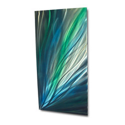 Miles Shay - Metal Wall Art Decor Abstract Contemporary Modern Sculpture- Irradiant - This Abstract Metal Wall Art & Sculpture captures the interplay of the highlights and shadows and creates a new three dimensional sense of movement as your view it from different angles.